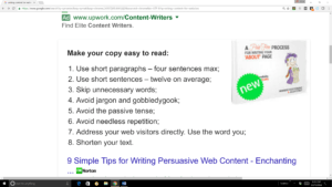 Writing content for search results