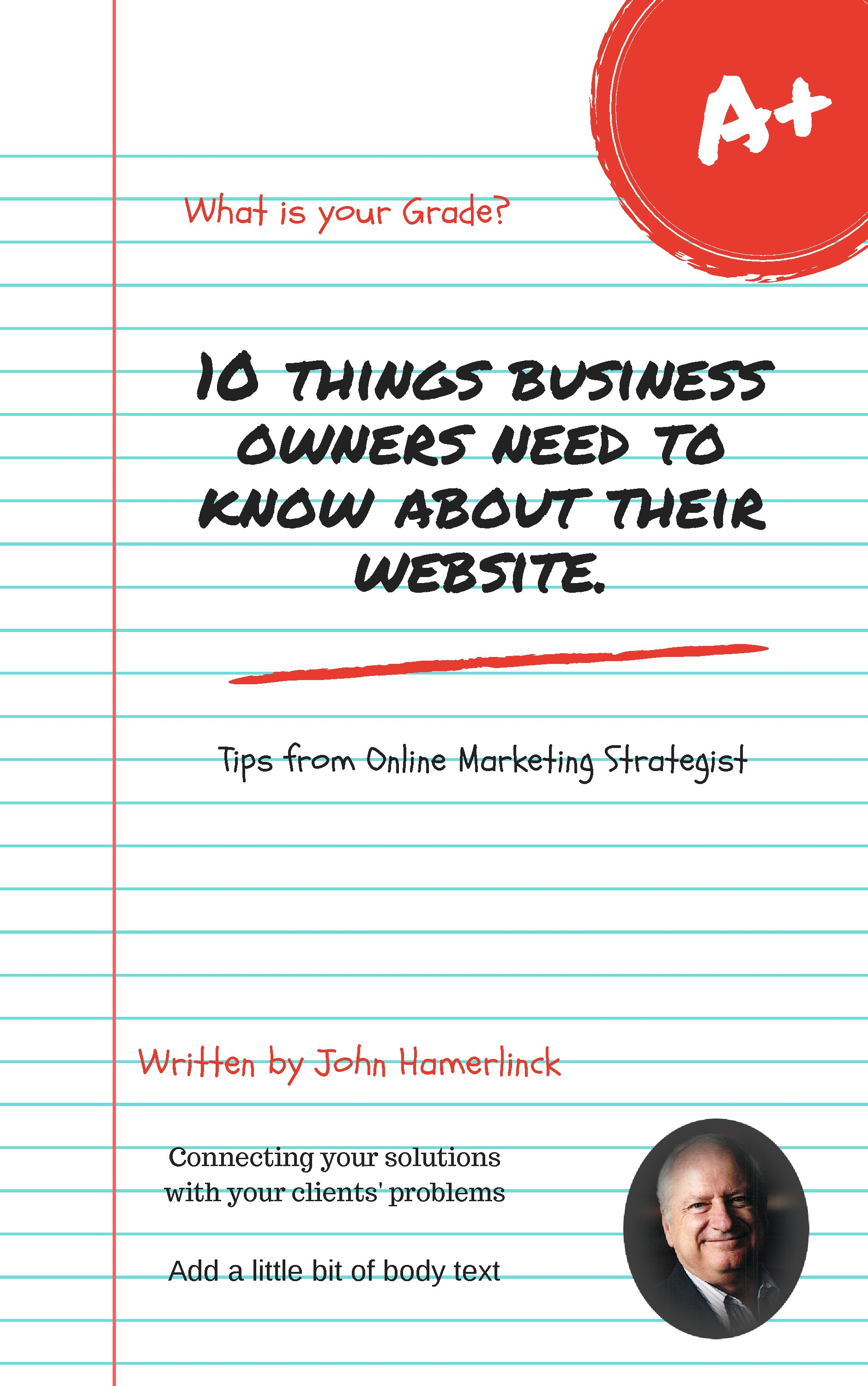 Ebook on Ten Things a Business Owner Needs to Know About their Website